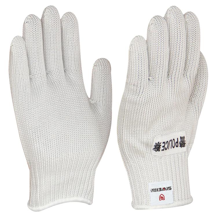 HPPE包钢丝白色防割手套
