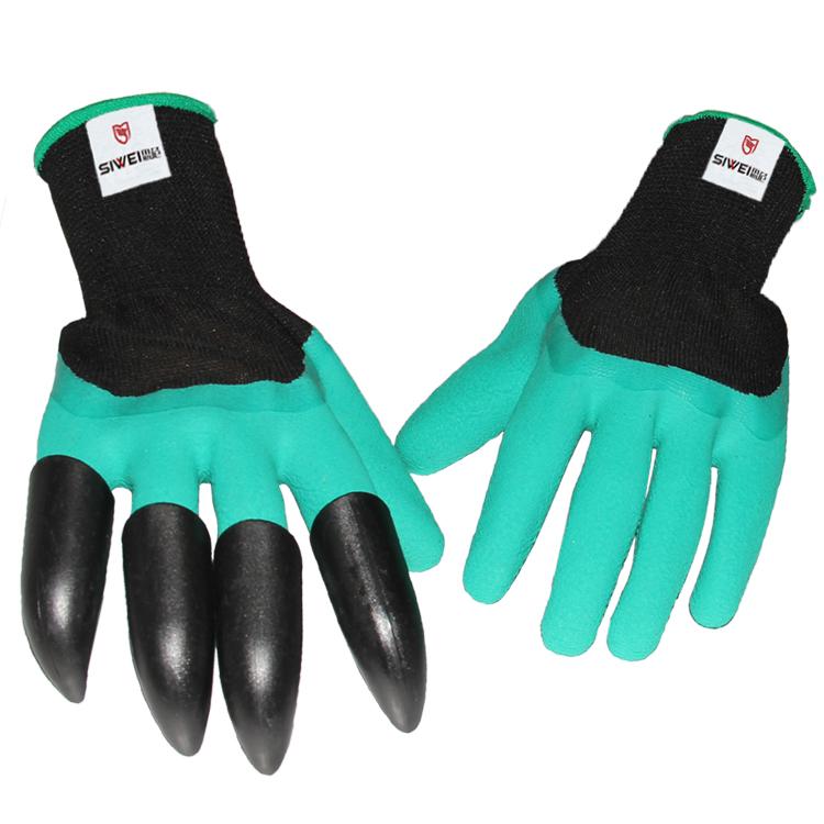 爪子挖土花园手套