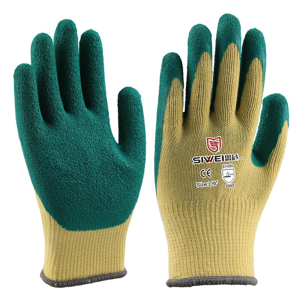 10针棉纱乳胶手套