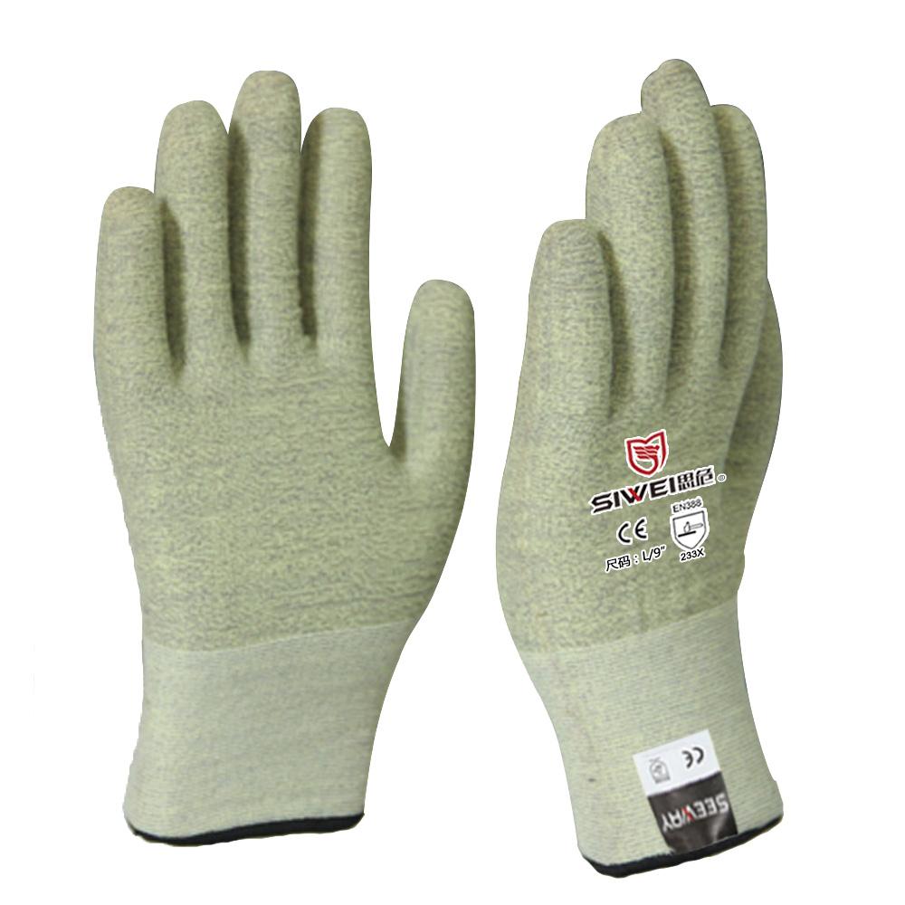 502W  芳纶耐温防切割手套(3级)