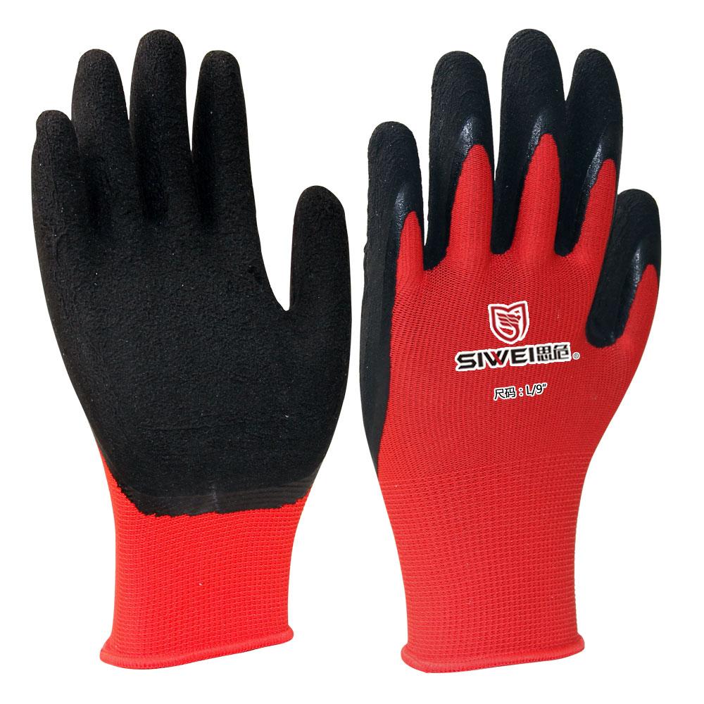 乳胶涂层手套(防滑耐磨)