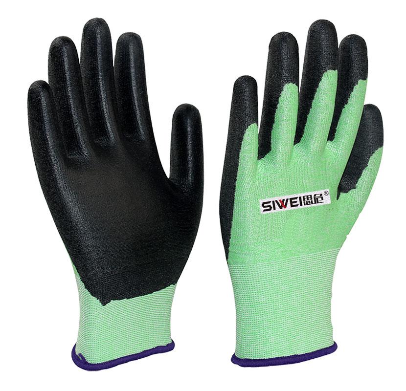 轻薄型PU涂层防割手套(3级)