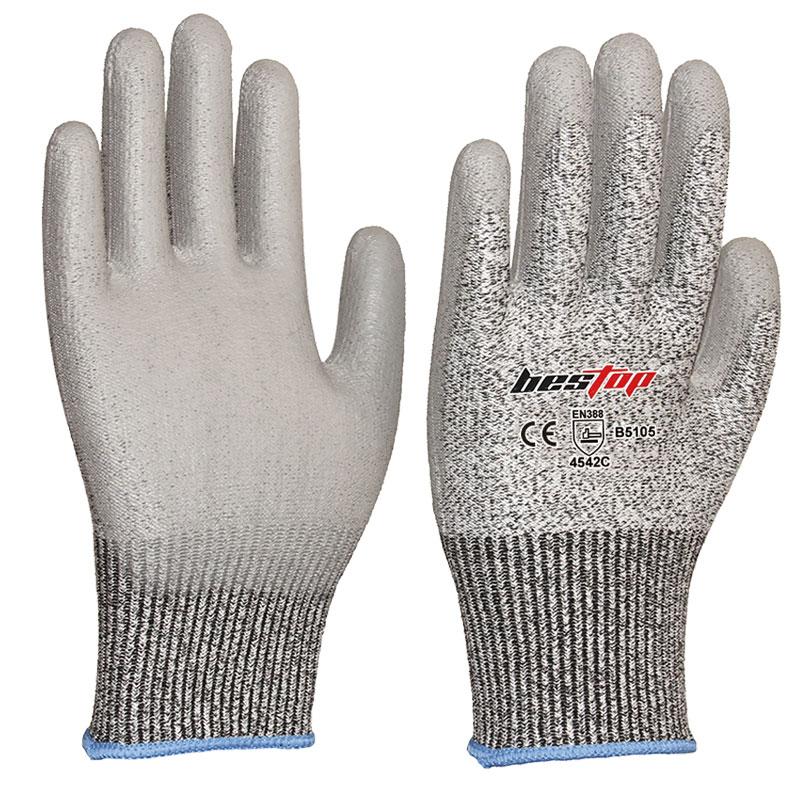 PU涂层防割手套(5级)